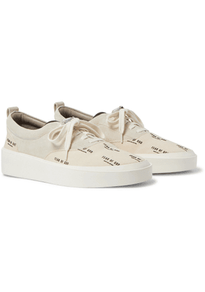 Fear of God - 101 Leather-Trimmed Suede and Logo-Print Canvas Sneakers - Men - Neutrals