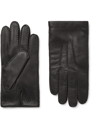 Dents - Shaftesbury Touchscreen Cashmere-lined Leather Gloves - Black
