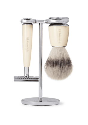 D R Harris - Fusion Chrome and Resin Three-Piece Shaving Set - Men - Colorless