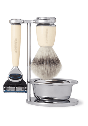 D R Harris - Safety Chrome and Resin Four-Piece Shaving Set - Men - Colorless