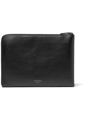 Common Projects - Leather Zip-Around Pouch - Men - Black