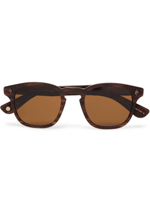 GARRETT LEIGHT CALIFORNIA OPTICAL - Ace 47 Square-Frame Tortoiseshell Acetate Sunglasses - Men - Brown