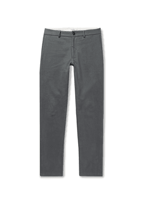 Freemans Sporting Club - Slim-fit Brushed Cotton-twill Trousers - Gray