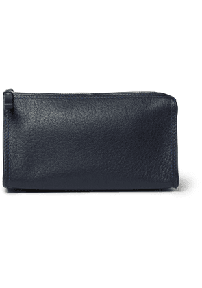 D R Harris - Grained-Leather Wash Bag - Men - Blue