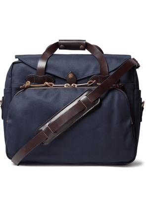 Filson - Leather-Trimmed Twill Briefcase - Men - Blue