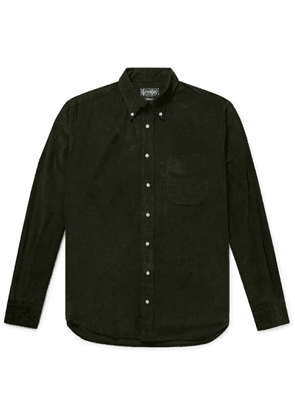 Gitman Vintage - Button-Down Collar Cotton-Corduroy Shirt - Men - Green