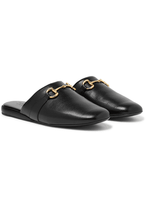 Gucci - Pericle Horsebit Leather Slippers - Black