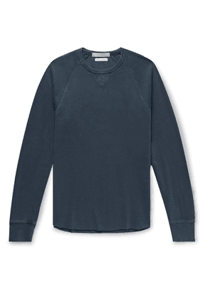 J.Crew - Slim-fit Wallace & Barnes Garment-dyed Textured-cotton Sweatshirt - Blue