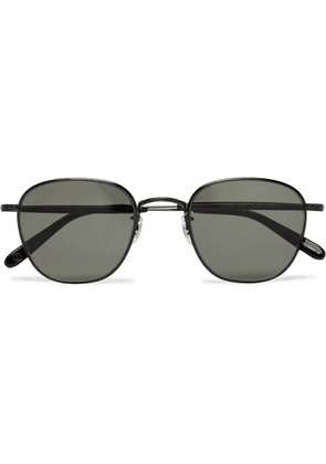 Garrett Leight California Optical - World 49 Round-frame Metal Sunglasses - Black