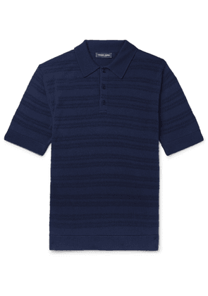 Frescobol Carioca - Striped Merino Wool Polo Shirt - Blue