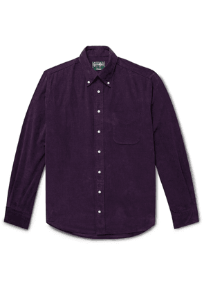 Gitman Vintage - Button-Down Collar Cotton-Corduroy Shirt - Men - Purple