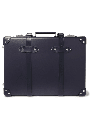 Globe-Trotter - 20 Leather-Trimmed Carry-On Suitcase' - Men - Blue