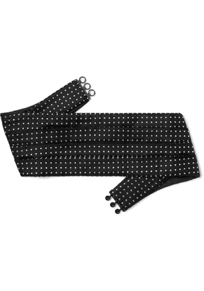 Favourbrook - Pickwick Pleated Polka-Dot Silk-Jacquard Cummerbund - Men - Black