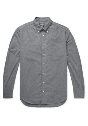 Gitman Vintage - Button-Down Collar Cotton-Flannel Shirt - Men - Gray
