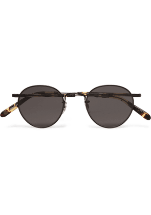 Garrett Leight California Optical - Wilson M 46 Round-frame Metal And Tortoiseshell Acetate Sunglasses - Black