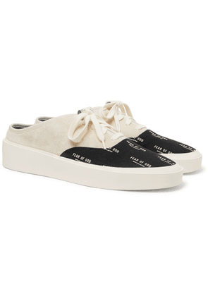 Fear of God - 101 Suede and Logo-Print Canvas Backless Sneakers - Men - Gray