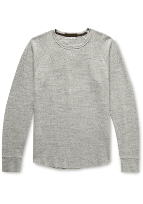 J.Crew - Slim-fit Wallace & Barnes Garment-dyed Textured-cotton Sweatshirt - Gray