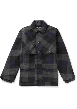 Filson - Oversized Checked Brushed Wool-Flannel Jacket - Men - Blue