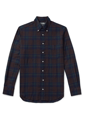 Gitman Vintage - Button-Down Collar Checked Cotton-Flannel Shirt - Men - Blue