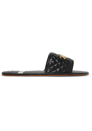 Gucci - Horsebit Quilted Leather Slides - Black