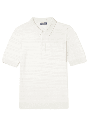 Frescobol Carioca - Striped Merino Wool Polo Shirt - Neutrals