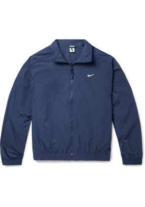 Nike - Nrg Logo-embroidered Shell Track Jacket - Blue