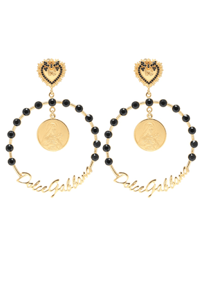 Embellished clip-on hoop earrings