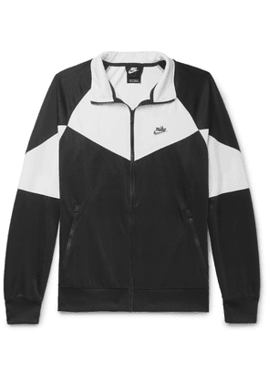 Nike - Colour-block Stretch-shell Zip-up Sweatshirt - Black