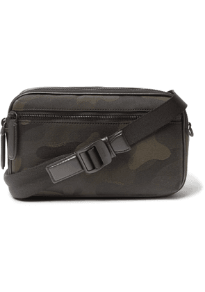 Mulberry - Leather-Trimmed Camouflage-Print Canvas Messenger Bag - Men - Green