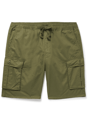 Remi Relief - Slim-fit Cotton And Linen-blend Cargo Shorts - Green