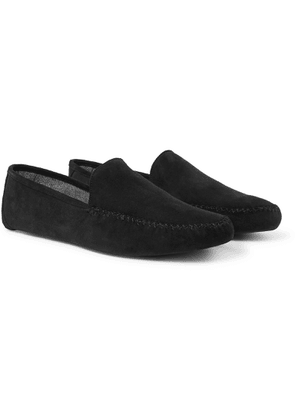 Loro Piana - Maurice Cashmere-lined Suede Slippers - Gray