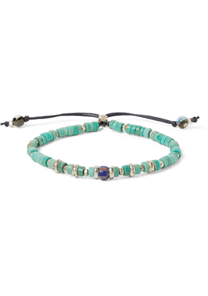 Peyote Bird - Sterling Silver, Turquoise And Agate Bracelet - Blue