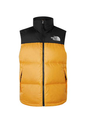 The North Face - 1996 Retro Nuptse Colour-Block Quilted Shell Down Gilet - Men - Yellow