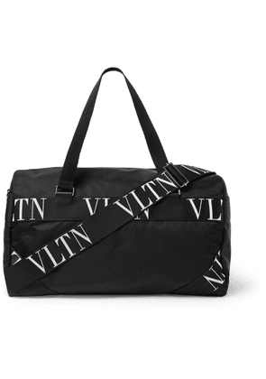 VALENTINO - Valentino Garavani Logo-Webbing and Leather-Trimmed Nylon Holdhall - Men - Black