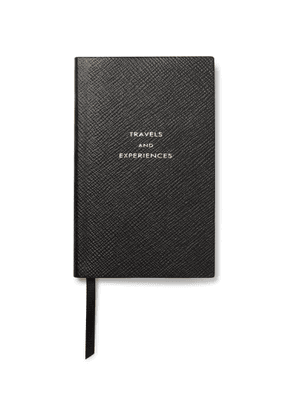 Smythson - Panama Travels and Experiences Cross-Grain Leather Notebook - Men - Black