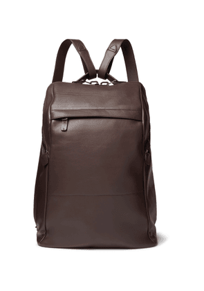 Álvaro - Agape Leather Backpack - Men - Brown