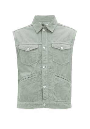 Isabel Marant - Icare Cotton-corduroy Gilet - Mens - Green