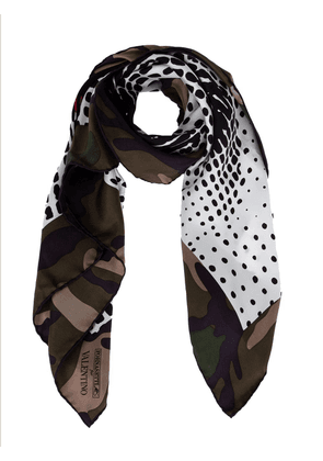 Fornasetti printed scarf - Green