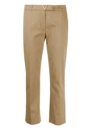 Valentino VGOLD cropped tailored trousers - NEUTRALS