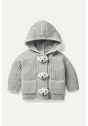 Burberry Kids - Months 1 - 18 Embellished Waffle-knit Wool And Cashmere-blend Hooded Jacket