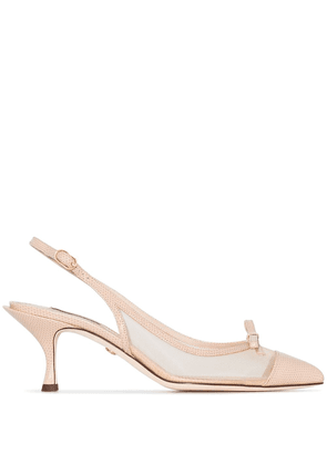 Dolce & Gabbana 60 pointed toe slingback pumps - NEUTRALS