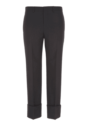 Givenchy Wide-Cuff Slim Wool Trousers