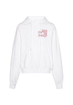 Off-White c/o Virgil Abloh Printed Cotton-Jersey Hooded Sweatshirt