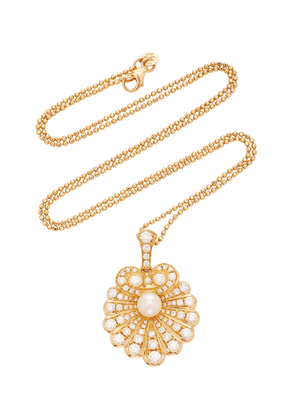Anita Ko Oyster 18K Gold, Diamond and Pearl Necklace