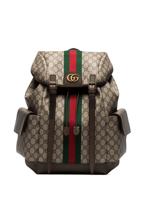 Gucci ophidia GG supreme canvas backpack - Brown