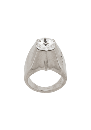 Gucci crystal stud ring - SILVER