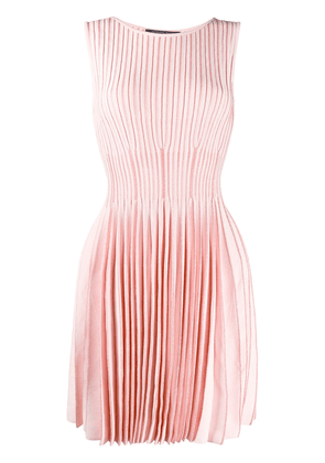 Antonino Valenti smocked stretch knit dress - PINK
