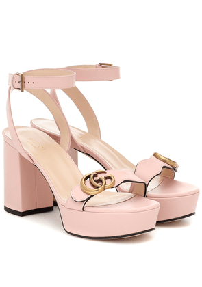 GG Marmont leather plateau sandals