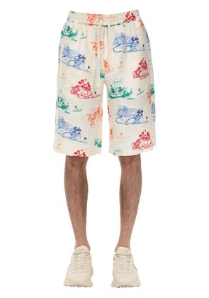 Mickey Mouse's Stories Linen Shorts