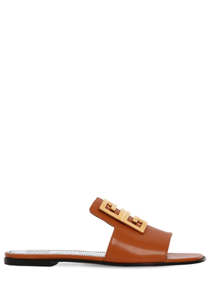 10mm 4g Leather Flat Sandals